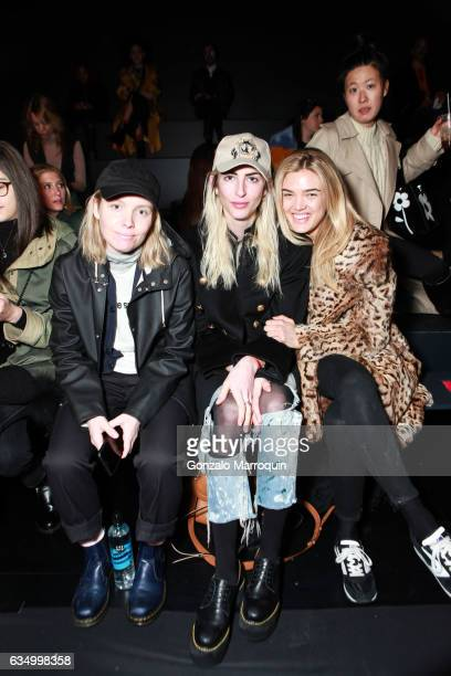 Jorden Bickham Kelly Conner and Allie Michler attend the Gypsy Sport Fashion Presentation during the February 2017 New York Fashion Week at Skylight...