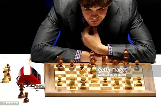 Jorden van Foreest of the Netherlands competes against Alireza Firouzja if Iran during the 83rd Tata Steel Chess Tournament held in Dorpshuis De...