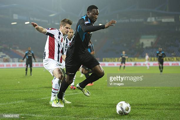 Jordens Peters of Willem II Geoffrey Castillion of Heracles Almelo during the Dutch Eredivisie match between Willem II and Heracles Almelo at the...