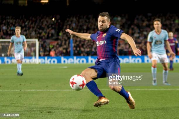 Jordi Alba during the spanish Copa del Rey match between FC Barcelona and Celta de Vigo at the Camp Nou Stadium in Barcelona Catalonia Spain on...