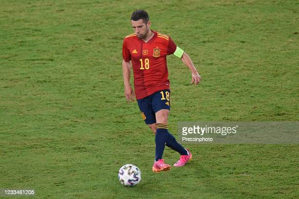 Jordi Alba of Spain during the match between Spain and Sweden of Euro 2020, group E, matchday 1, played at La Cartuja Stadium on June 14, 2021 in...