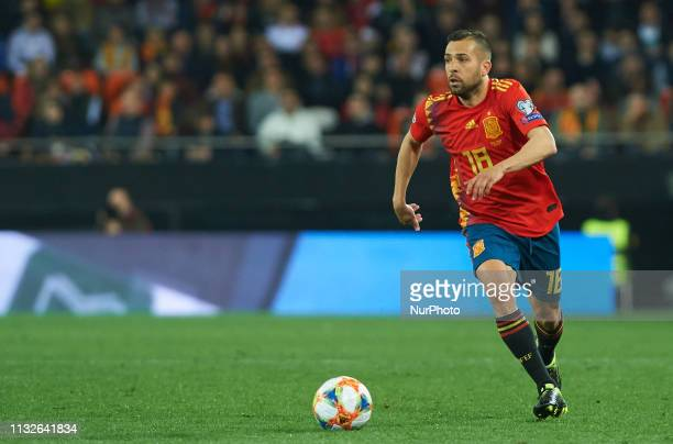 Jordi Alba of Spain national team during the European Qualifying round Group F match between Spain and Norway at Estadio de Mestalla, on March 23...
