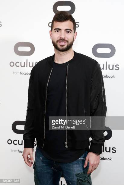 Jordi Amat attends the Oculus Game Days VIP opening night hosted by the Facebook owned virtual reality company Oculus on March 9 2017 in London...