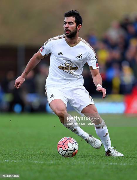 Jordi Amat of Swansea City during The Emirates FA Cup match between Oxford United and Swansea City at Kassam Stadium on January 10 2016 in Oxford...