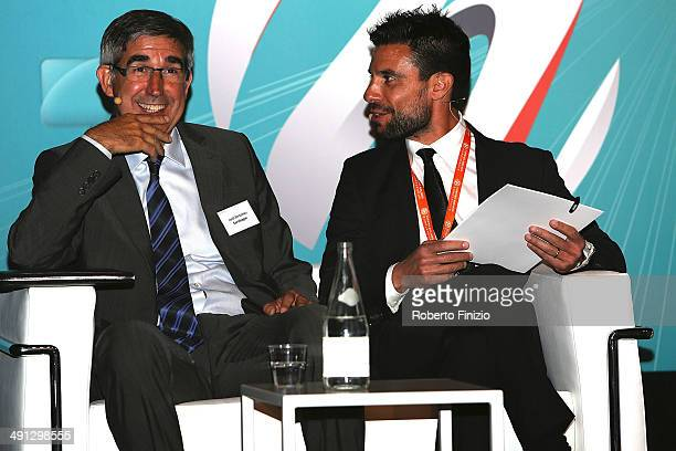 Jordi Bertomeu and Paolo Bellino during the Isportconnect Directors Club in Association with Euroleague Basketball as part of Turkish Airlines Final...