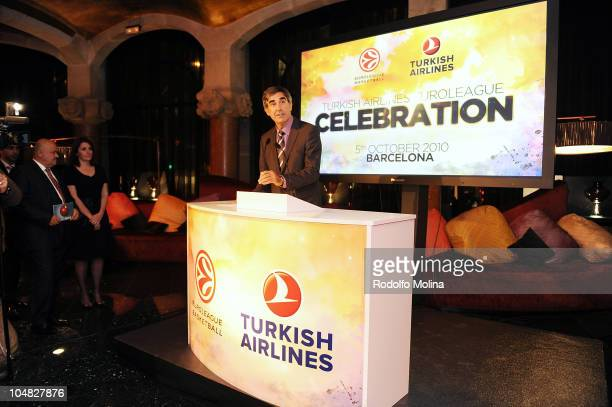 Jordi Bertomeu CEO Euroleague Basketball during the Presentation of Agreement with Turkish Airlines at Casa Fuster on October 5 2010 in Barcelona...