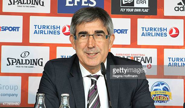 Jordi Bertomeu CEO Euroleague Basketball during the Turkish Airlines Press Conference at O2 World on May 11 2015 in Berlin Germany