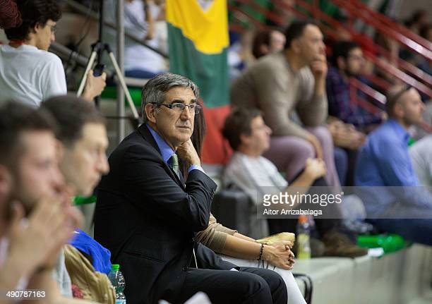 Jordi Bertomeu during the Nike International Junior Tournament game between Real Madrid vs Fenerbahce Ulker Istanbul at Tensostruttura Lido on May 15...