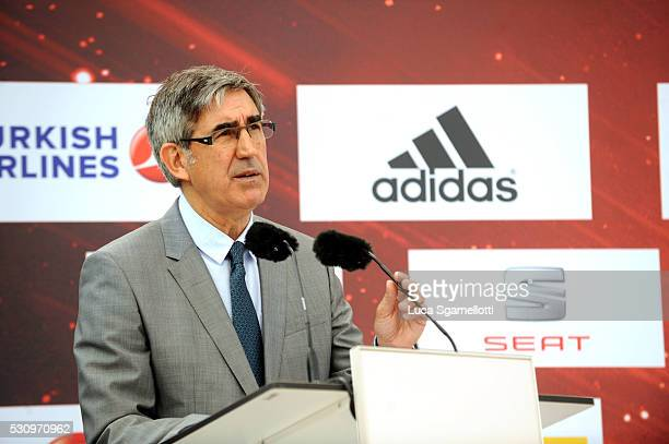 Jordi Bertomeu Euroleague Basketball President and CEO during Turkish Airlines Euroleague Final Four Berlin 2016 Opening Press Conference at...