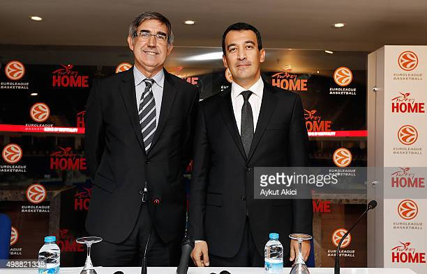 Jordi Bertomeu Euroleague Basketball President CEO and Irfan Onal Director General Of Promotion Ministry of Culture and Tourism of the Republic of...