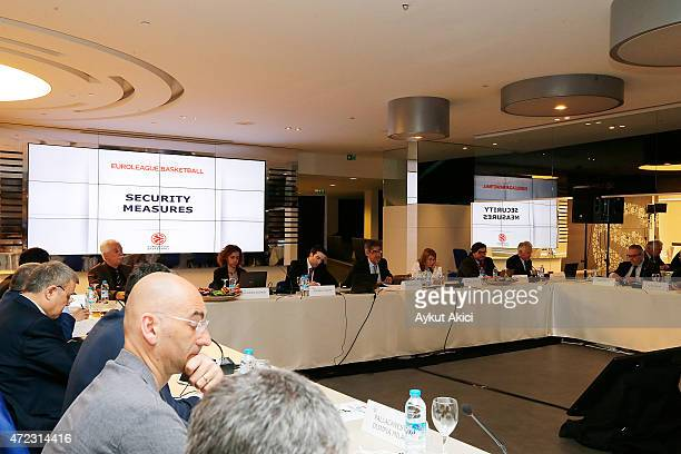 Jordi Bertomeu Euroleague Basketball President CEO during the Turkish Airlines Euroleague Basketball ECA Shareholders Meeting at Ulker Sports Arena...
