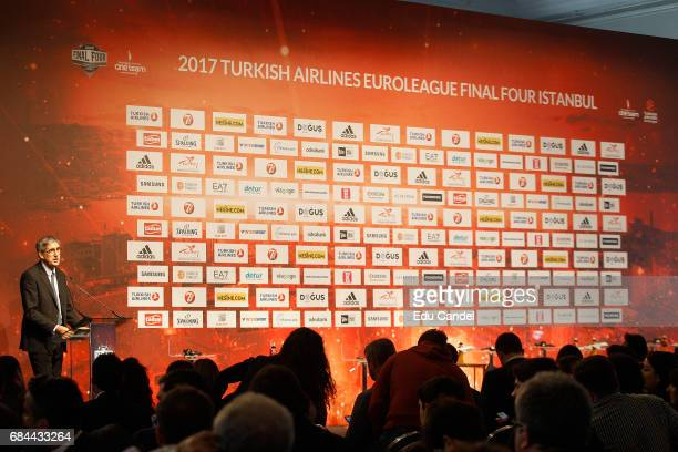 Jordi Bertomeu Euroleague Basketball President CEO during the Turkish Airlines EuroLeague Final Four Opening Press Conference at Ciragan Palace on...