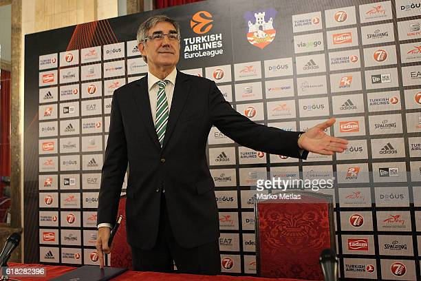 Jordi Bertomeu Euroleague president during the 2018 Turkish Airlines Euroleague Final Four Host Announcement Press Conference at Municipality of...