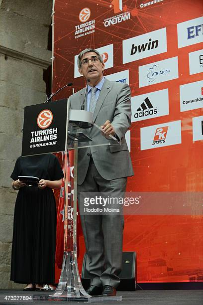 Jordi Bertomeu Oresident and CEO Euroleague Basketball during the Efes Euroleague Award Ceremony of Turkish Airlines Euroleague Final Four Madrid...