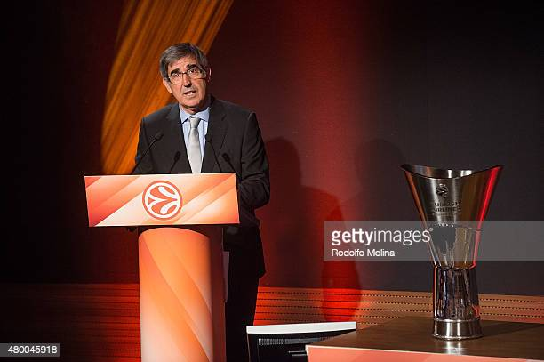 Jordi Bertomeu President and CEO Euroleague Basketball during the 201516 Turkish Airlines Euroleague Basketball Regular Season Draw at Auditorium...