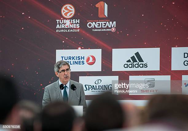 Jordi Bertomeu President and CEO of Euroleague Basketball during Turkish Airlines Euroleague Final Four Berlin 2016 Opening Press Conference at...