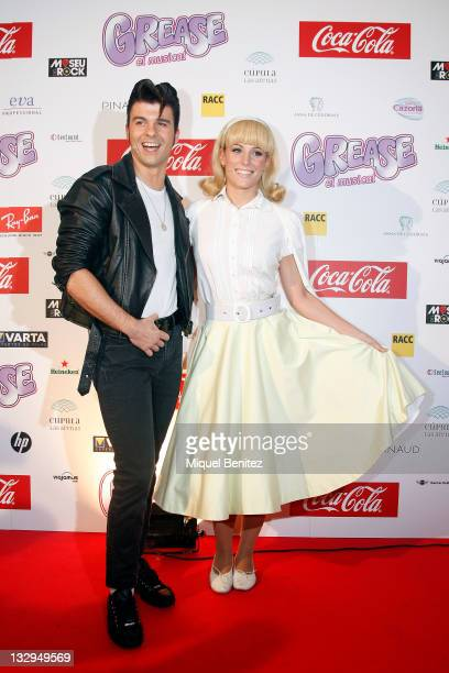 Jordi Coll and Edurne attend the premiere of 'Grease the Musical' at the Las Arenas on November 15 2011 in Barcelona Spain