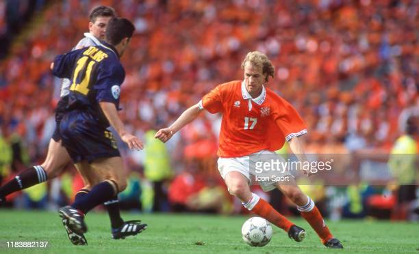Jordi CRUYFF of Netherlands during the European Championship match between Netherlands and Scotland at Wembley Stadium London England on 10 June 1996