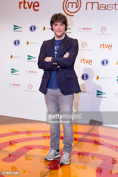 Jordi Cruz attends 'Masterchef' Season 4 Presentation on March 31 2016 in Madrid Spain