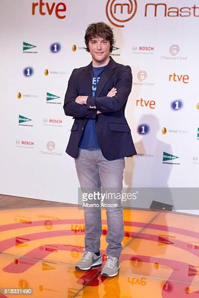 Jordi Cruz attends 'Masterchef' Season 4 Presentation on March 31 2016 in Madrid Spain