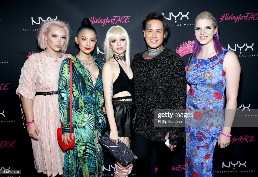 Jordi Dreher, ashghotcakess, Kimberley Margarita, Henry Vasquez and Megan Walter at the FACE Awards International Welcome Party at Andaz Hotel on August 16, 2017 in Los Angeles, California.