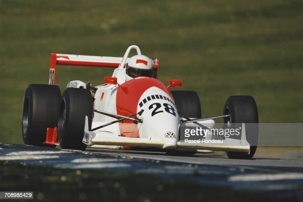 Jordi Gene of Spain drives the Tech-Speed Motorsport Reynard 903 Volkswagen-Spiess during the British Formula 3 Championship race on 29 April 1990 at...