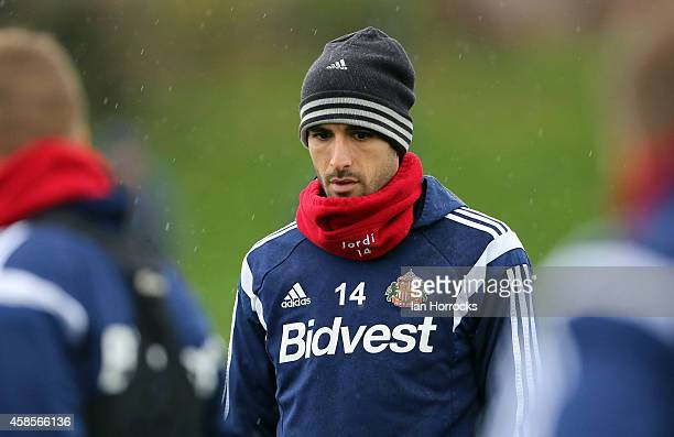 Jordi Gomez during a Sunderland AFC training session at the Academy of Light on November 07, 2014 in Sunderland, England.