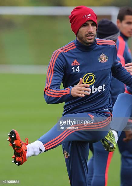 Jordi Gomez during a Sunderland training session at the Academy of Light on October 30 2015 in Sunderland England
