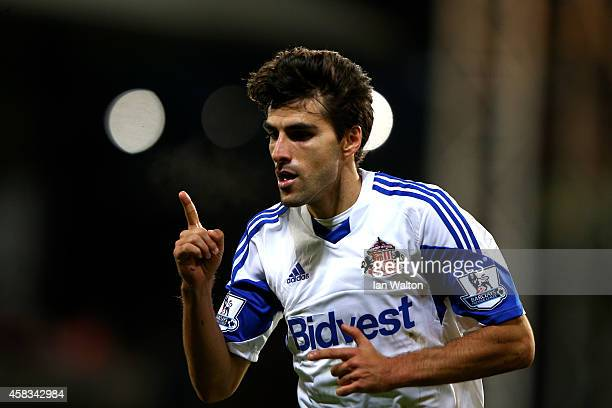 Jordi Gomez of Sunderland celebrates after scoring his team's second goal during the Barclays Premier League match between Crystal Palace and...