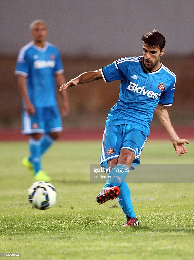 Jordi Gomez of Sunderland during a pre-season friendly match between CD National and Sunderland at the Estadio Municipal Albufeira on July 30, 2014 in Albufeira, Portugal.