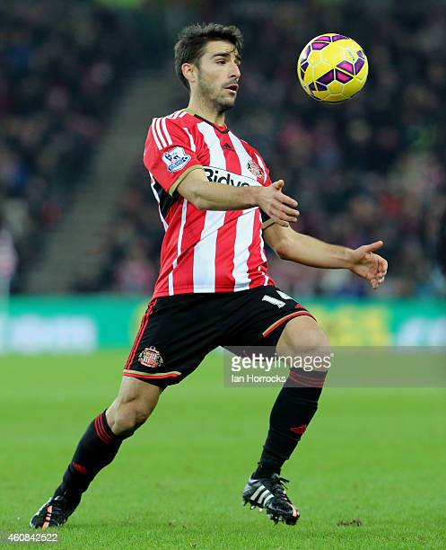 Jordi Gomez of sunderland during the Barclays Premier League match between Sunderland and Hull City at the Stadium of Light on December 26 2014 in...