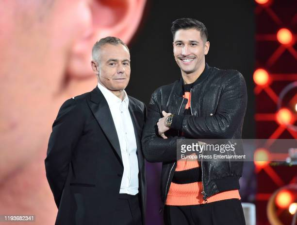 Jordi Gonzalez and Gianmarco Onestini during 'Gran Hermano VIP 7' gala on December 12 2019 in Madrid Spain