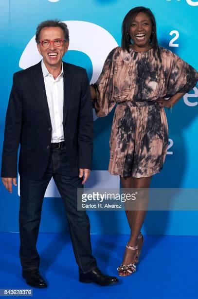 Jordi Hurtado and Francine Galvez attend the presentation of new season of La 2 by RTVE at the at the Palacio de Congresos during the FesTVal 2017 on...