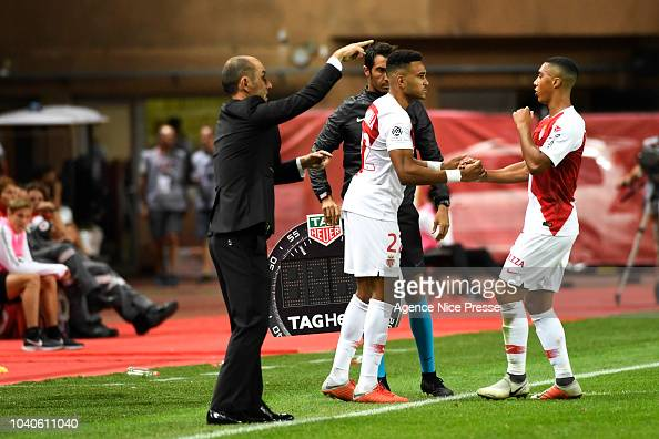 Jordi Mboula And Youri Tielemans Of Monaco During The