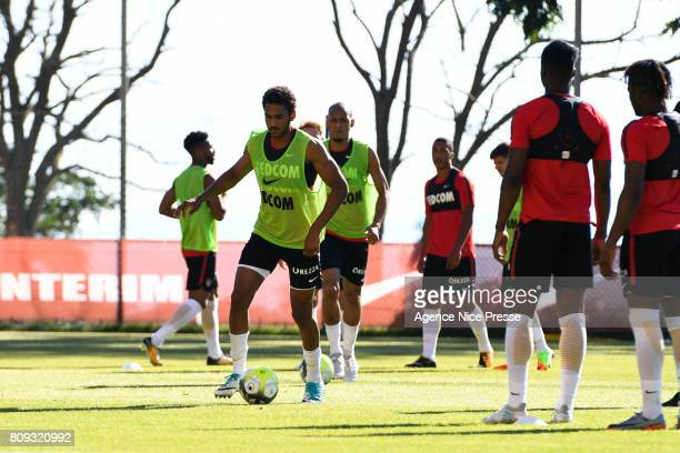 Jordi Mboula of Monaco during Press conference and training session of AS Monaco on July 5 2017 in Monaco Monaco