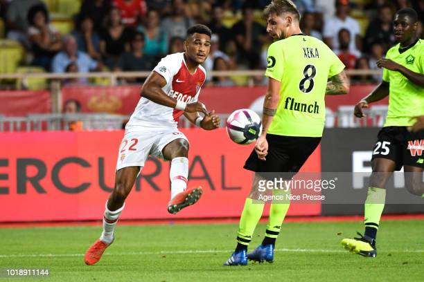 Rony Lopes of Monaco during the French Ligue 1 match between AS Monaco and Lille at Stade Louis II on August 18 2018 in Monaco Monaco