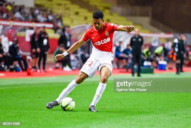 Jordi Mboula of Monaco during the Ligue 1 match between AS Monaco and Amiens SC at Stade Louis II on April 28 2018 in Monaco