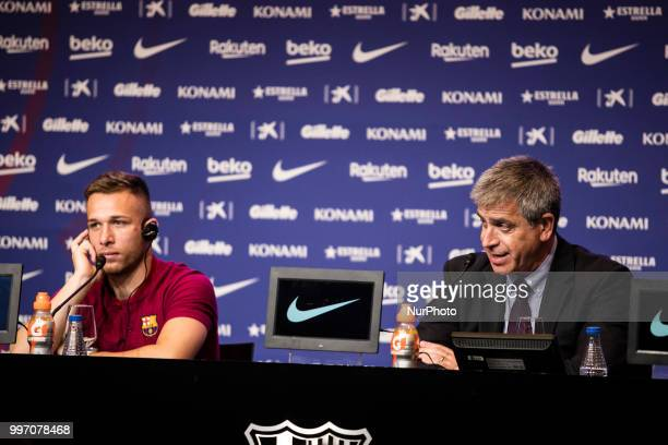 Jordi Mestre during the presentation of Arthur Melo from Brasil after being the first new signing for FC Barcelona 2018/2019 La Liga team in Camp Nou...