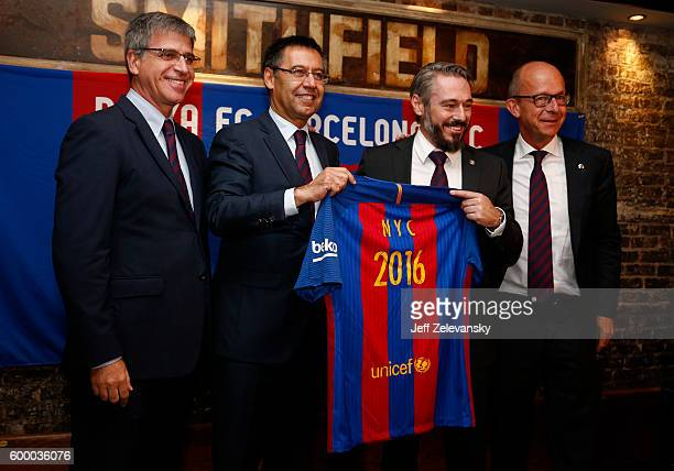 Jordi Mestre Vice Chairman FC Barcelona Josep Maria Bartomeu President of FC Barcelona Jordi GetmanEraso President of Penya FC Barcelona and Jordi...