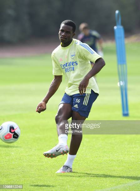 Jordi Osei-Tutu of Arsenal during the Arsenal U23 training session at London Colney on August 17, 2020 in St Albans, England.