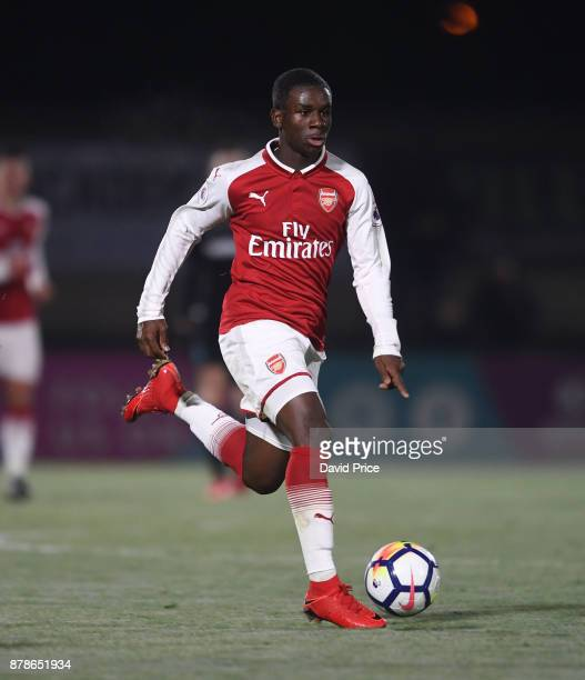 Jordi OseiTutu of Arsenal during the Premier League Two match between Arsenal U23 and West Ham United U23 at Meadow Park on November 24 2017 in...