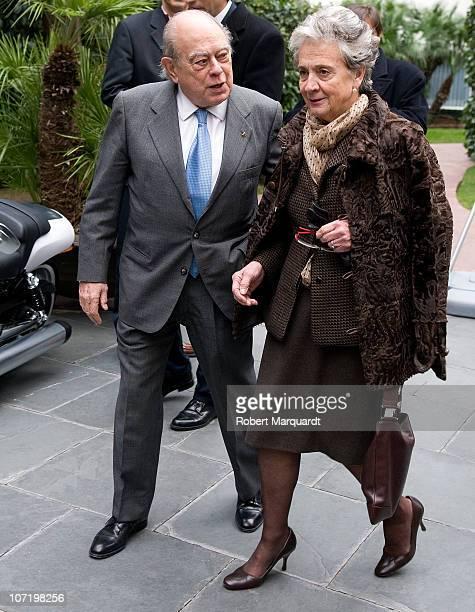 Jordi Pujol and his wife Marta Ferrusola attend the 'Protagonistas Award 2010' at the Palau de Congressos de Catalunya on November 29 2010 in...