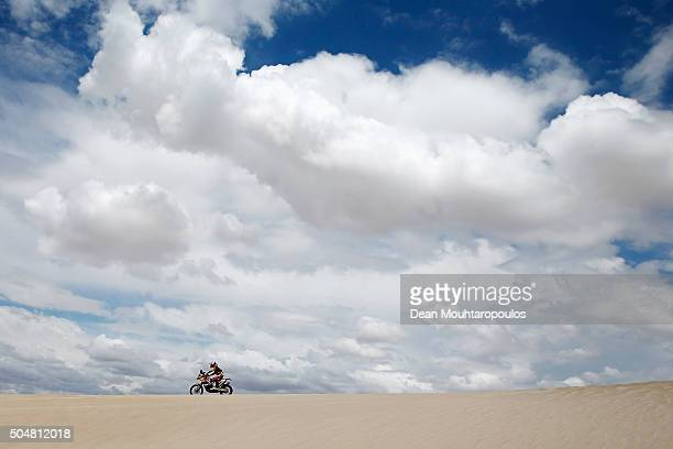 Jordi Viladoms of Spain riding on and for KTM 450 RALLY REPLICA RED BULL KTM FACTORY TEAM competes on day 11 stage ten between Belen and La Rioja...