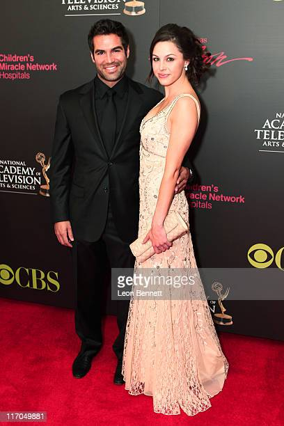 Jordi Vilasuso and Kaitlin Riley arrives at the 38th Annual Daytime Entertainment Emmy Awards for Soap Opera Weekly at Hilton Hotel And Casino Resort...