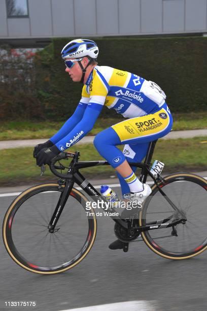 Jordi Warlop of Belgium and Team Sport Vlaanderen - Baloise / during the 74th Omloop Het Nieuwsblad 2019 a 200km race from Gent to Ninove / FLanders...