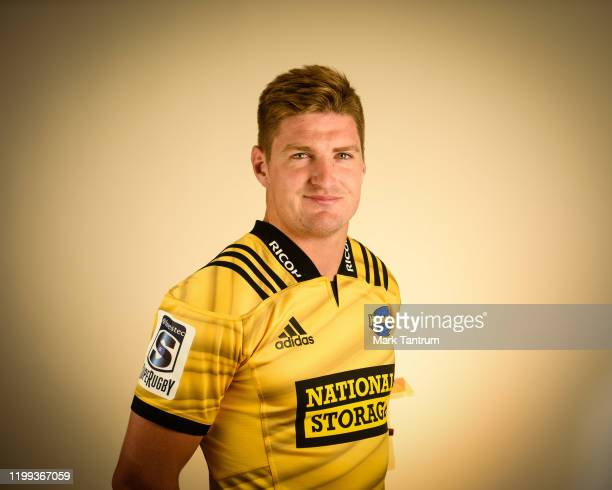 Jordie Barrett poses during a Hurricanes Super Rugby headshots session on February 01 2019 in Wellington New Zealand
