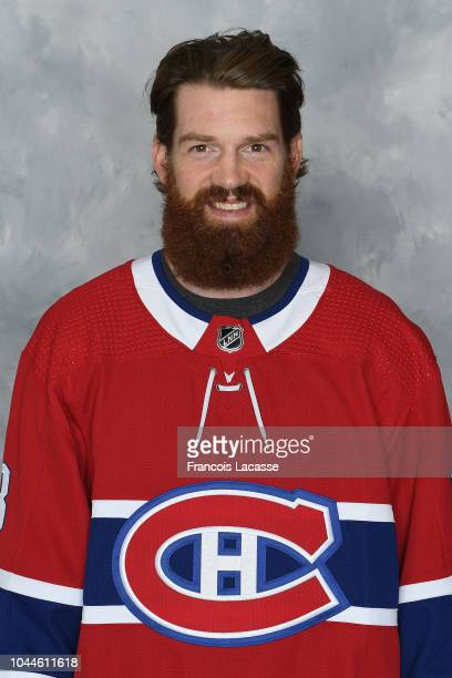 Jordie Benn of the Montreal Canadiens poses for his official headshot for the 20182019 season on September 13 2018 at the Bell Sports Complex in...