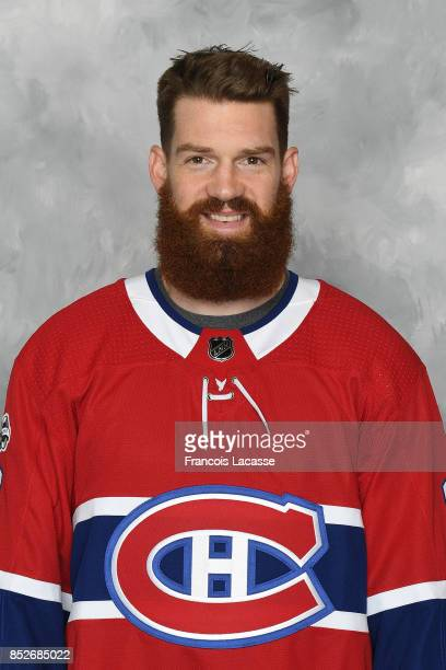 Jordie Benn of the Montreal Canadiens poses for his official headshot for the 20172018 season on September 14 2017 at the Bell Sports Complex in...