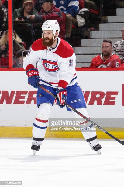 Jordie Benn of the Montreal Canadiens skates against the Ottawa Senators at Canadian Tire Centre on December 6 2018 in Ottawa Ontario Canada