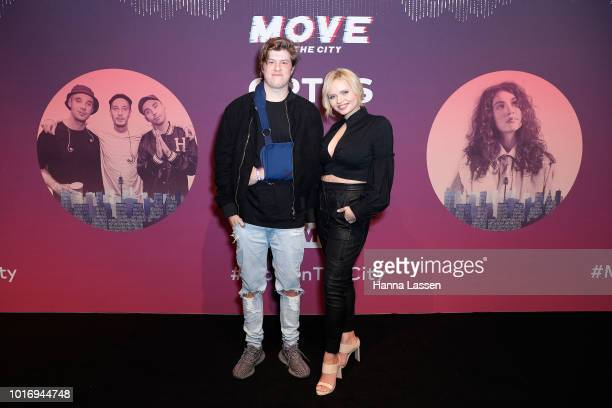Jordie Ireland and Alli Simpson attend Move In The City at Royal Hall of Industries Moore Park on August 15 2018 in Sydney Australia